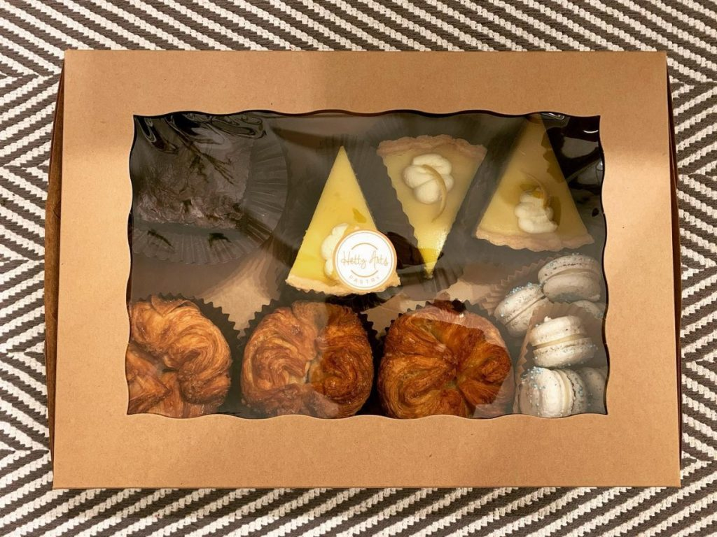 Box of pastries from Hetty Arts