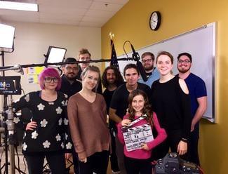 Morgan Gullett and her video crew